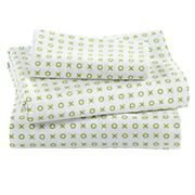 Baby Sheets: Green XO Crib Fitted Sheet in Crib Fitted Sheets