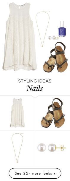 """""""Can't sleep love"""" by cea4 on Polyvore featuring Chelsea Flower, Essie, Birkenstock, Kendra Scott and Miadora"""
