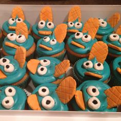 Perry the Platypus cupcakes!!