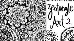 ZENTANGLE ART BÁSICO I 4 patrones fáciles para empezar con zentangle art ♥ Qué cositas - YouTube