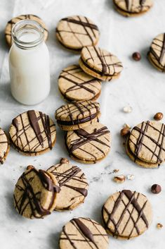 Hazelnut Espresso Sandwich Cookies: a perfect treat of sinful chocolate ganache sandwiched between two hazelnut espresso cookies.