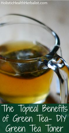 The Topical Benefits of Green Tea - DIY Green Tea Toner - Holistic Health Herbalist - Natural beauty receipes Homemade Toner, Homemade Beauty, Best Beauty Tips, Diy Beauty, Beauty Skin, Health And Beauty, Anti Aging, Green Tea Toner, Charcoal Mask Peel