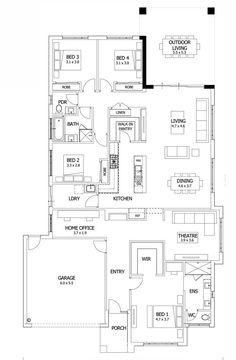 floor plan outdoor living - Google Search