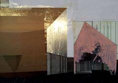 Beniamino Servino. Houses. Archetypes, Artsy Fartsy, Geometry, Mixed Media, Collage, Graphics, Abstract, Digital, Hot