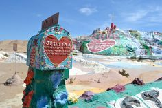 Hidden away in the lower desert of Southern California, Salvation Mountain is an inspiring religious art installation. Built entirely out of adobe, straw and 100,000 gallons of paint, Salvation Mountain was created by local resident Leonard Knight as a homage to Christianity. The candy-coloured landmark is a mecca for design inspiration and has previously been used in Sean Penn's Into The Wild (2007) and Rookie magazine's editorial Daydream Nation.