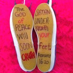 Romans 16:20.