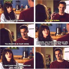 New Girl New Girl Memes, New Girl Quotes, Nick Miller, Jess New Girl, People Dont Change, Snl News, Nick And Jess, Chemistry Humor, Jessica Day