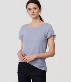 Less-expensive alterative for Athro ruffled-sleeve tee!