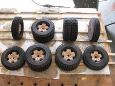 Toy Construction #99: WS Tractor Semi Making wheels