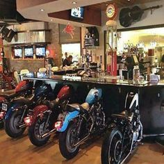 Insane Repurposed Bikes. #shop #bar #harley #barlights #mancave #antique #mancave #shopping #manthings #creative #share #football #badassery #shopsmall #musthave #repurpose #unique #collector #cool #amazing #unusual #rare #like #cocktail #adrenaline #decorate #interior #cars #ford #tunergarage Car Part Art, Biker Bar, Man Cave Accessories, Car Part Furniture, Furniture Design, Pipe Furniture, Furniture Vintage, Handmade Furniture, Furniture Ideas