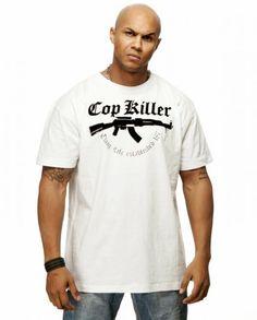 "Thug Life T-Shirt ""Cop Killa"" AK Weiß"