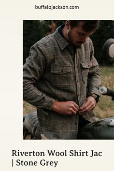 Our men's long sleeve button down shirt jacket is the perfect weight for brisk mornings or cool evenings. Dress it up with a blazer for that lunch meeting. Or, for casual style, outfit it with jeans and boots. Available in multiple colors, these wool blend shirt jackets make great gifts for guys | dads | men who have everything. #giftsforhim #mensfashion Great Gifts For Guys, Best Gifts For Men, Casual Professional, Men's Outerwear, Grey Stone, Timeless Classic, Shirt Jacket, Mornings, Men's Style