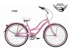 """3-Speed Women's Tahiti NX3 26"""" Beach Cruiser / Shimano Nexus Internal Coaster Brake and Gear System / Stainless Steel Spokes One Piece Crank Alloy PINK Rims 36H White Wall Tire w/ Fenders Color: Pink/ Pink - http://www.bicyclestoredirect.com/3-speed-womens-tahiti-nx3-26-beach-cruiser-shimano-nexus-internal-coaster-brake-and-gear-system-stainless-steel-spokes-one-piece-crank-alloy-pink-rims-36h-white-wall-tire-w-fenders-color-pin/"""