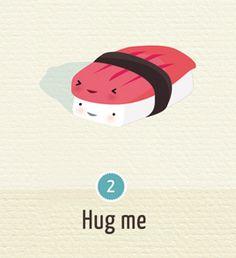 Sushi Love !   annalisabernabovi   Illustrator & graphic designer.  Tags: digital, illustration, texture, sushi, badge, funny