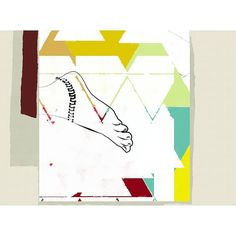 Collage #ilustración #illustration #collage #abstract #fashion #lines #colorful #trend #style #foot #white #minimal