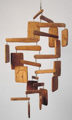 Reba Stewart spent the summers of in Puerto Rico. Over the summers of she created and developed mobiles of driftwood Driftwood Mobile, Driftwood Art, Suncatchers, Sticks And Stones, Wood Crafts, Wood Projects, Rustic, How To Make, Outdoor Bedroom