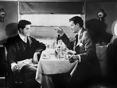 """""""Stranger on a Train"""" Alfred Hitchcock, with Farley Granger and Robert Walker. Alfred Hitchcock, Hitchcock Film, Norman Bates, 10 Film, David Fincher, Christopher Nolan, Good Movies On Netflix, Movies To Watch, Entertainment Weekly"""