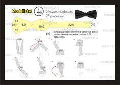 Modelagem Gravata Borboleta 2º processo. Fonte: https://www.facebook.com/photo.php?fbid=556873117681931=a.426468314055746.87238.422942631074981=1