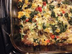 delicious breakfast casserole, I used sausage instead of ground beef