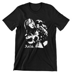 Axl Rose T Shirt / Guns N Roses / Hand screen-printed Men's / Ladies / Fitted / Buy any two shirts get one free! by cottonpickincrazy on Etsy