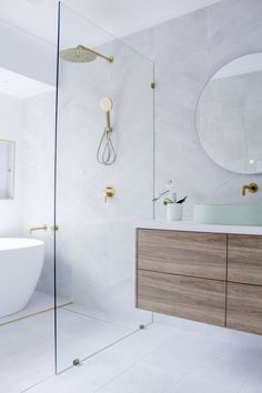 Before and After - Wet Rooms - On The Ball Bathrooms Wet Room With Bath, Bathroom With Shower And Bath, Wet Room Bathroom, Laundry In Bathroom, Bathroom Ideas, Bathroom Design Inspiration, Modern Bathroom Design, Bathroom Interior Design, Bathroom Renovations Perth