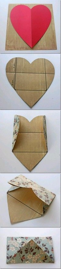 Write a note on the heart before folding into an envelope for a sweet and creative message.