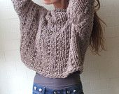 Get your Chunk on, bamboo mix chunky sweater in Mushroom
