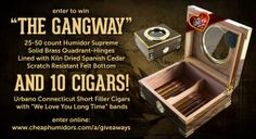 I just entered to win a 50-count Humidor Supreme and 10 premium cigars from CheapHumidors.com!