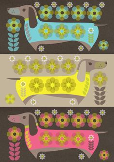 DACHSHUNDS POSTER