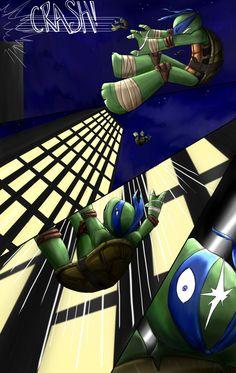 Hindsight - Chapter 1 (page by Myrling on DeviantArt Ninja Turtles Art, Teenage Mutant Ninja Turtles, Tmnt Swag, Tmnt Leo, Virgo Art, Leonardo Tmnt, Tmnt Comics, Tmnt 2012, Hindsight