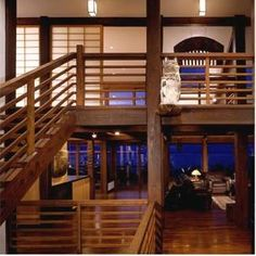japanese style homes - Google Search Clean lines, open space, beautiful wood, rustic feel, fantastic view.