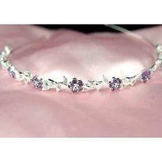 Flower Purple Clear Crystal Headband Tiara for R195.00