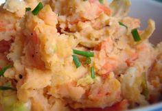 Sonkás édesburgonya-püré | NOSALTY Polenta, Potato Salad, Potatoes, Pure Products, Ethnic Recipes, Food, Potato, Essen, Meals