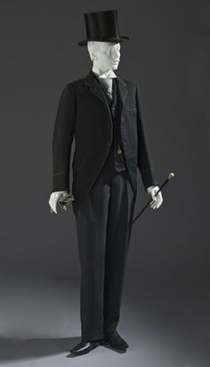 suit ca. 1880 via The Los Angeles County Museum of Art  Haven't posted menswear in a while, so here you go: eye candy!