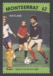 Pre-release of Montserrat 1986 World Cup set (Scotland) – never issued.