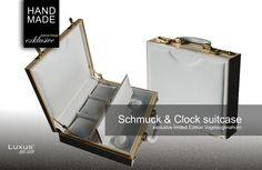 Der exklusive Luxus Schmuckkoffer and Clock suitcase ist weltweit streng limitiert. Exklusiv und Einzigartig im Design in hochwertiger Qualität.