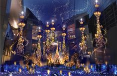 This Shiodome shopping complex always puts a lot of work into its Christmas light-ups, and this year is no exception: for this year, the Caretta Illumination wi Tokyo With Kids, Arabian Nights Theme, Christmas Lights, Christmas Decorations, Beauty And The Beast Theme, Aesthetic Space, Dark Winter, Architecture Photo, Concept Art