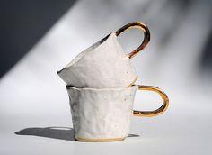 Moonshine Mug - Hand Built - Speckled Stoneware - Milky White Glaze - Free Postage Australia Wide - Made to order