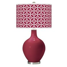 Antique Red Circle Rings Ovo Table Lamp - Style # X1360-X9758-Y5973