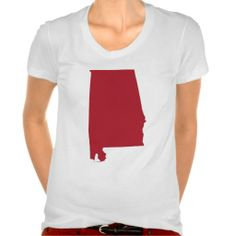 Alabama in Red Tee Shirts