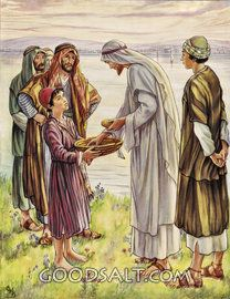 Acerca de Jesús para alimentar a la multitud