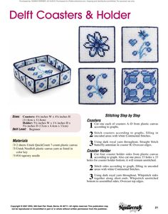 Table Runners & Coasters Pg. 22