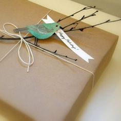 Creative Gift Wrapping Ideas: Twig & Bird Gift Wrap