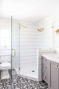 Diy Bathroom Remodel, Shower Remodel, Bath Remodel, Shiplap Bathroom, Basement Bathroom, Bathroom Interior, Master Bathroom, Bad Inspiration, Bathroom Inspiration