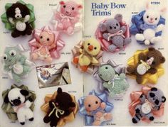 Baby Bow Trims with Patterns in English - FREE!