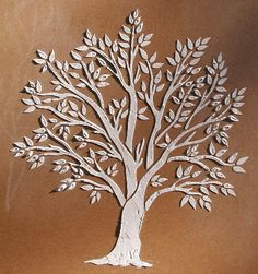 Raised Plaster Miniature Tree Stencil