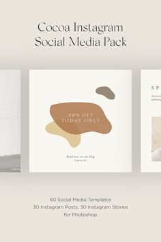 Instagram Square, Instagram Story, Instagram Posts, Cocoa, Insta Layout, Story Template, Social Media Template, Layout Inspiration, Adobe Photoshop