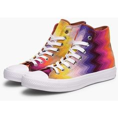 x Missoni Chuck Taylor All Star 70 Hi ❤ liked on Polyvore featuring shoes, sneakers, missoni shoes, star shoes, missoni, missoni sneakers and white shoes