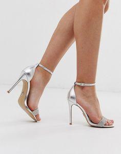 24 Wedding Sandals You Can Definitely Wear Again - silver ankle strap stilettos for bride