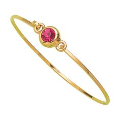 Pulsera con piedra en color rosa de la marca KLICKISS. www.cristianlay.com